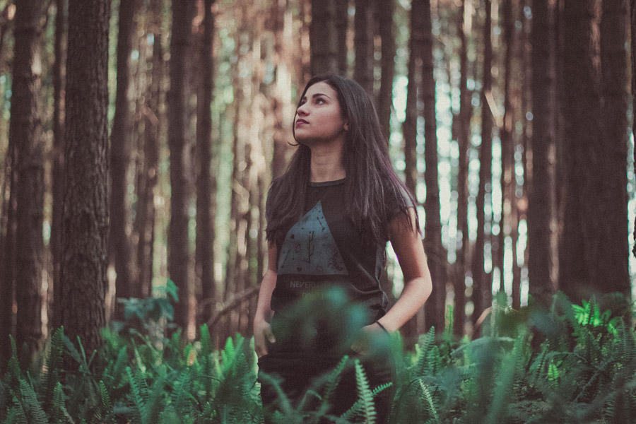 a-woman-in-forest